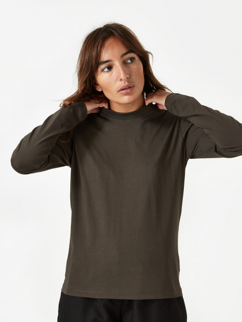 Gro Cotton Longsleeve T-Shirt - Beech Green