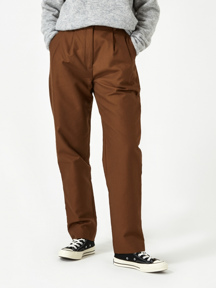 Norse Projects Karen Compact Twill Trouser - Duck (Image 1)