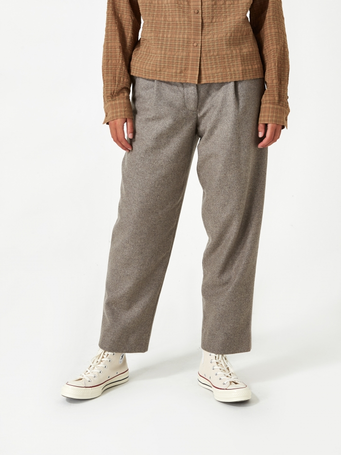Norse Projects Julia Wool Trouser - Camel Melange (Image 1)