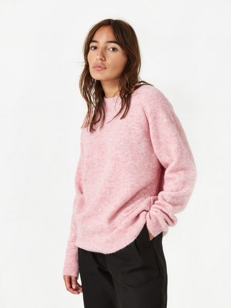 Anja Brushed Jumper - Light Rose