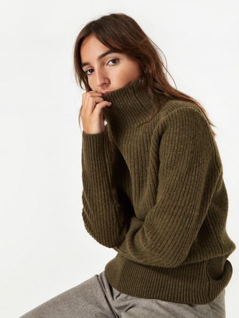 Victoria Wool Jumper - Beech Green