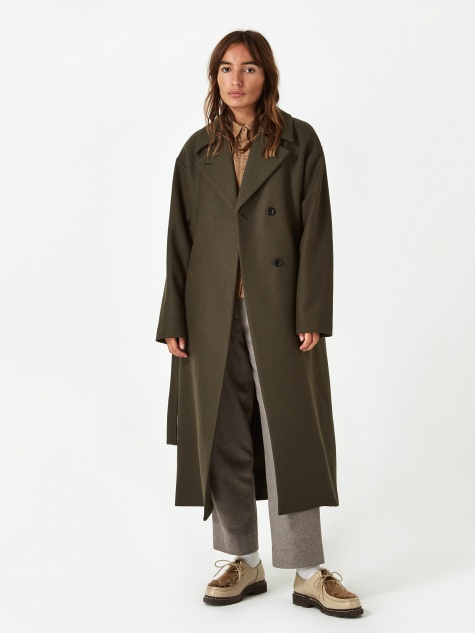 Tenna Wool Coat - Beech Green