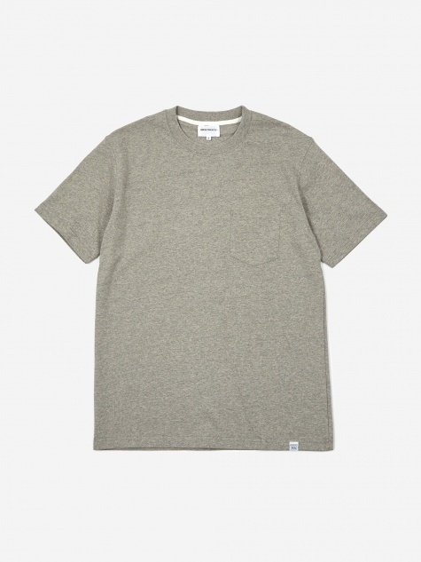 Johannes Pocket Shortsleeve T-Shirt - Light Grey