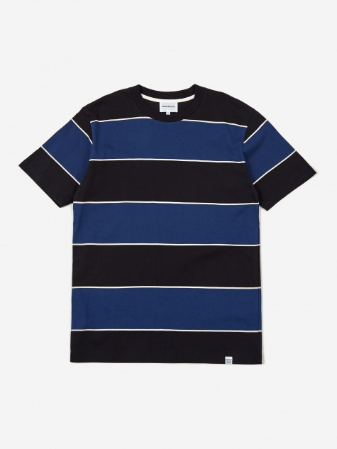 Johannes 3 Stripe Shortsleeve T-Shirt - Twilight