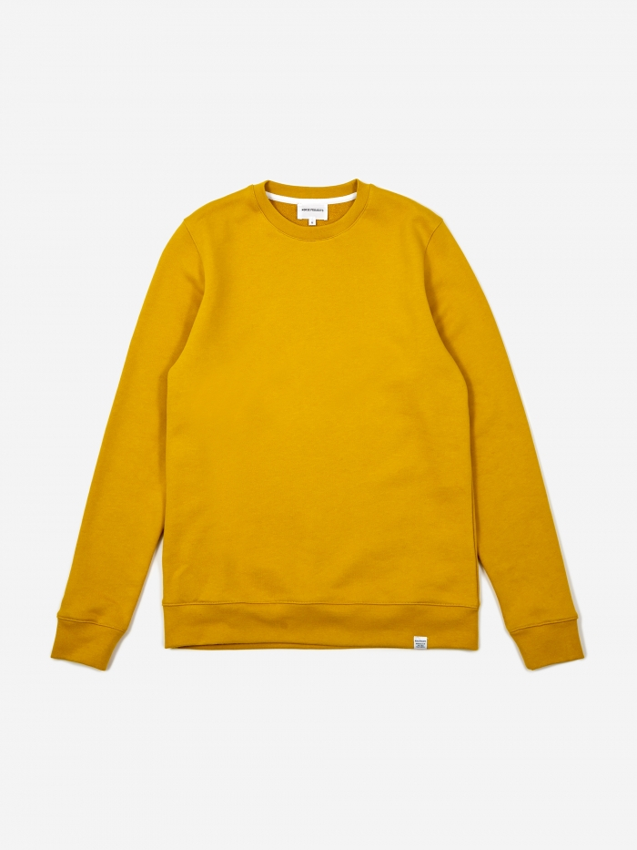 Norse Projects Vagn Classic Crewneck Sweatshirt - Montpellier Ye (Image 1)