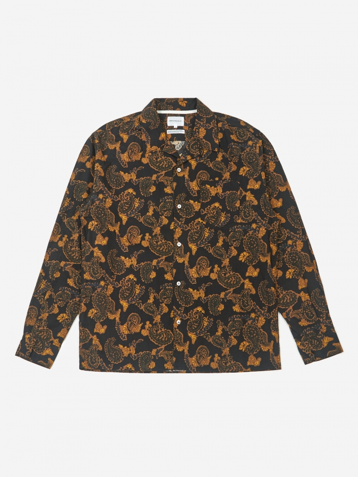 Norse Projects Carsten Paisley Shirt - Black (Image 1)