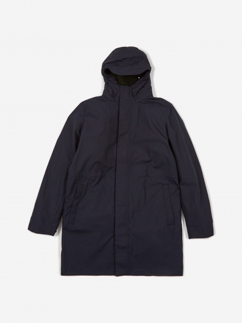 Elias Cambric Cotton Parka Jacket - Dark Navy