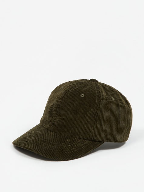 Wide Wale Cord Sports Cap - Beech Green