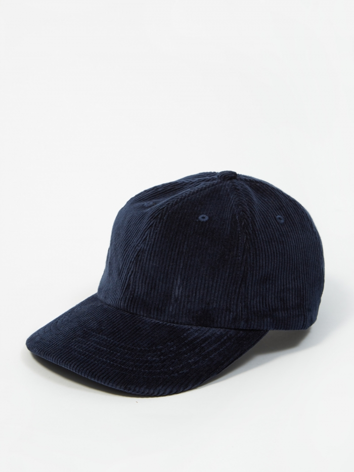 Norse Projects Wide Wale Cord Sports Cap - Ensign Blue (Image 1)