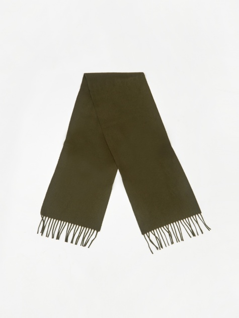 Lambswool Scarf - Beech Green