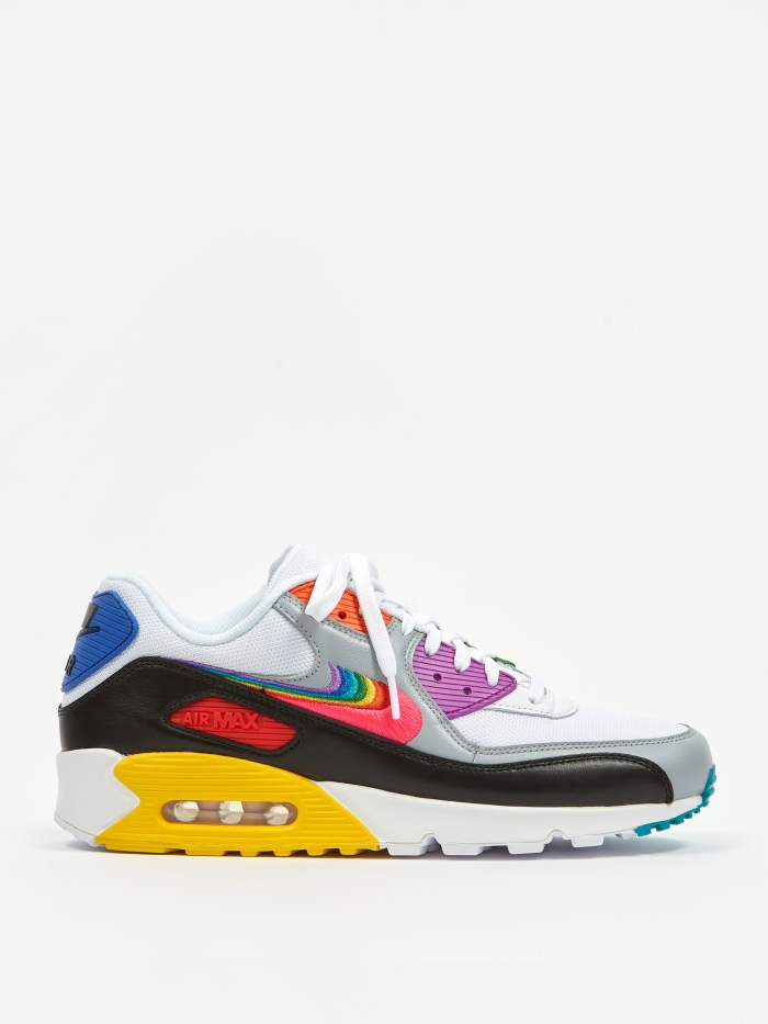 Nike Air Max 90 Betrue - White/Multi/Black/Wolf Grey (Image 1)