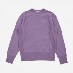 Champion Reverse Weave Small Script Crewneck Sweatshirt - Purple