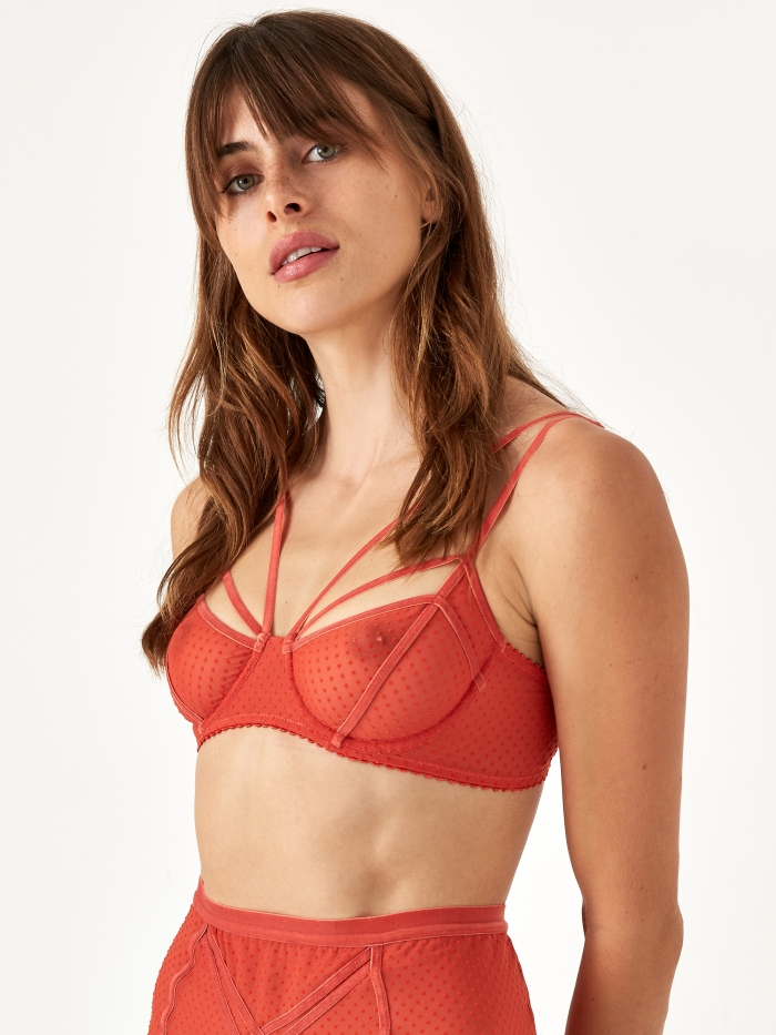 Lonely Gigi Underwire Bra - Copper (Image 1)