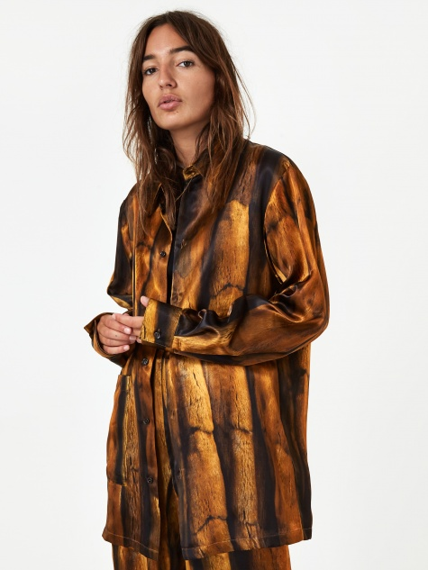 MM6 Maison Margiela Oversize Shirt - Fur Print