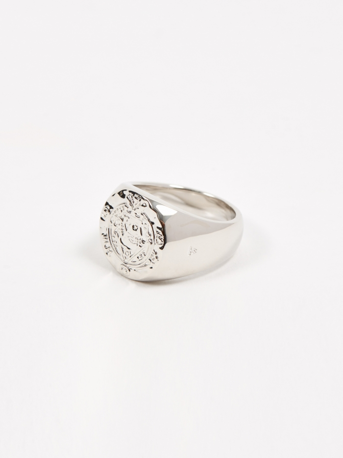 Tom Wood Silk Coin Ring - Sterling Silver (Image 1)