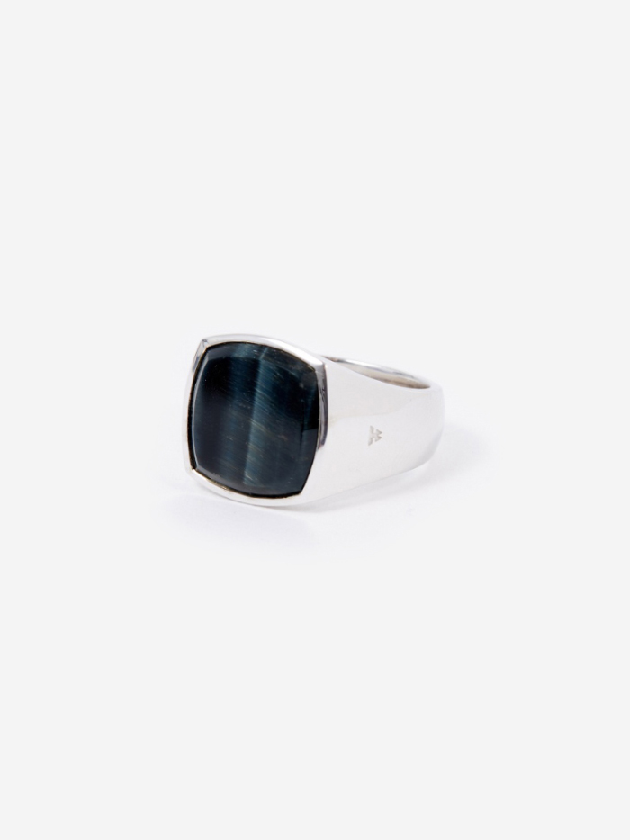 Tom Wood Cushion Ring - Blue Hawk Eye (Image 1)