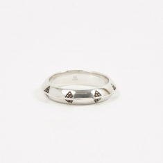 Tom Wood Viking Band Ring - Sterling Silver