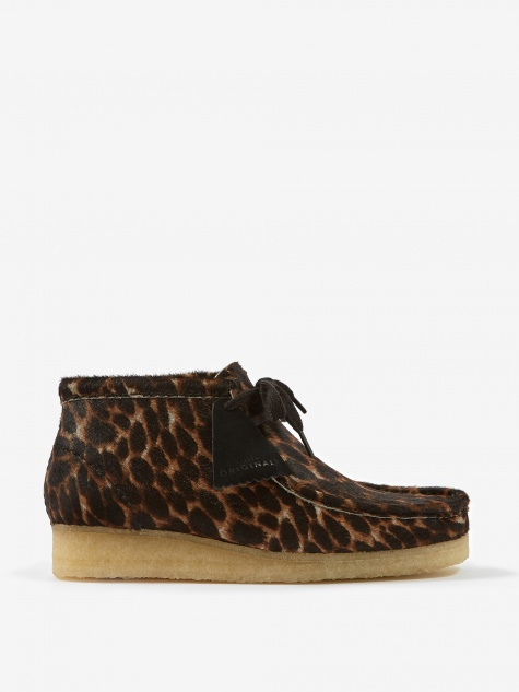 Clarks Wallabee Boot - Black Animal Print