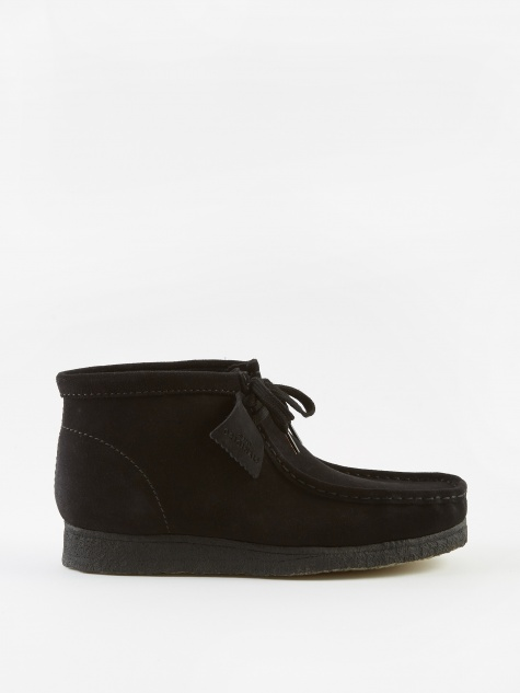 Clarks Wallabee Boot - Black/Black Suede