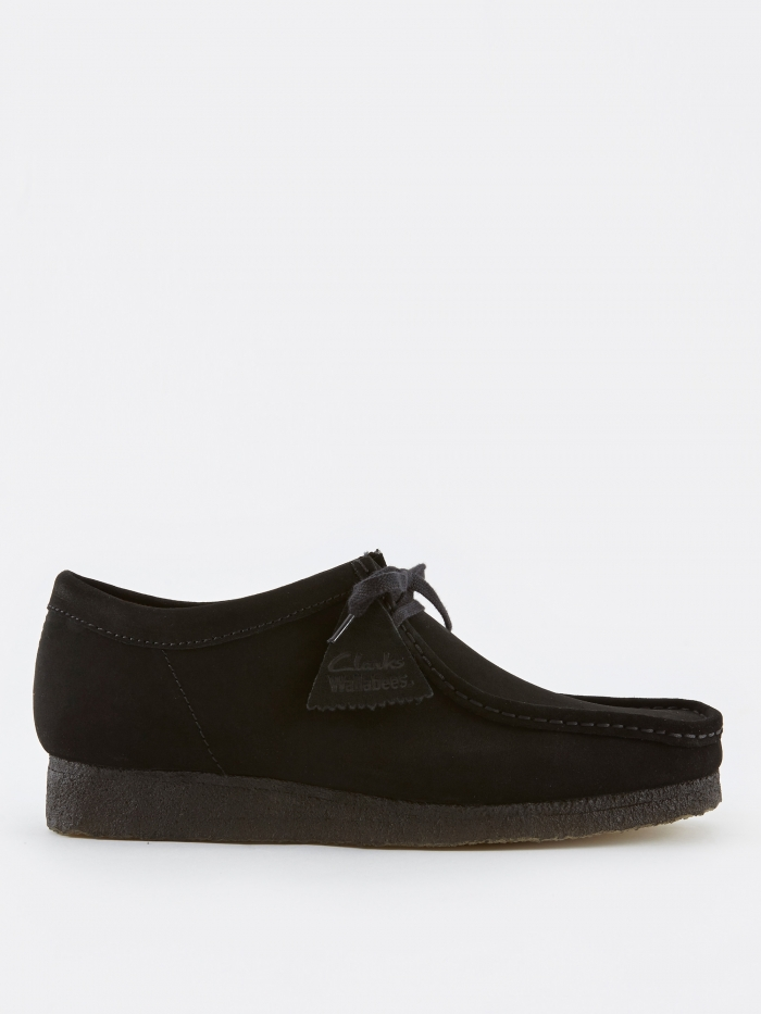 Clarks Originals Clarks Wallabee - Black Suede (Image 1)