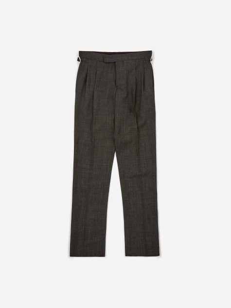 Wool Tapered Pant - Gray