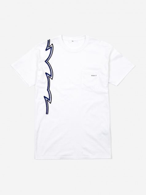Embroidery Pocket T-Shirt - White