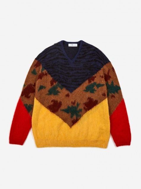 Animal Jacquard Knit Jumper - Navy