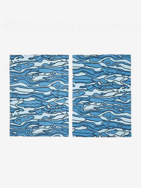 Water Tea Towels - Blue