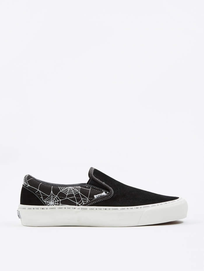 Vans Vault x Goodhood OG Classic Slip-On LX - Black/Marshmallow (Image 1)