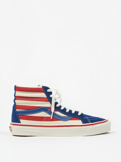 Sk8-Hi 38 DX - (Anaheim Factory) Blue/Red