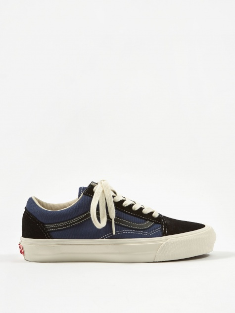 Vans Vault OG Old Skool LX - (Suede/Canvas) Black/Blue