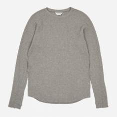 Unused Long Sleeve Waffle T-shirt - Grey