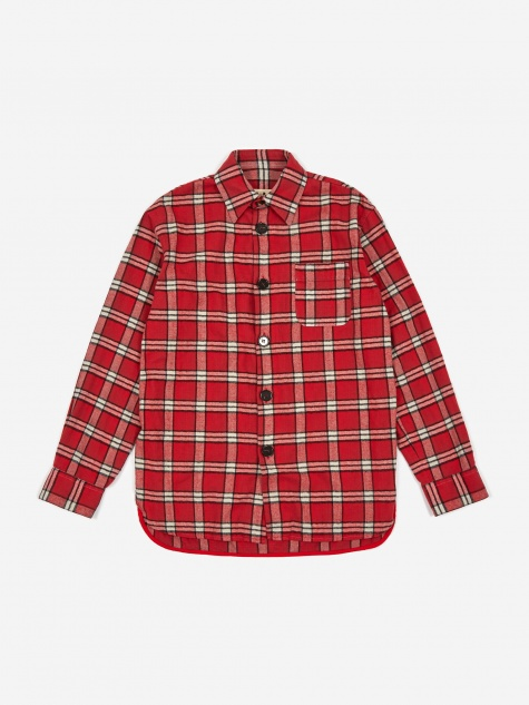 Brushed Cotton Check Shirt - Red