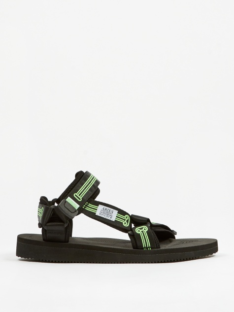 x Aries Sandal - Black Glow In The Dark