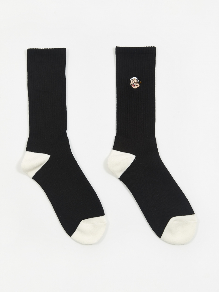 Pop Trading Company x Pop/Eye Sport Socks - Black (Image 1)