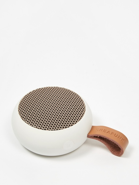 aGO Bluetooth Speaker - White/Rose Gold