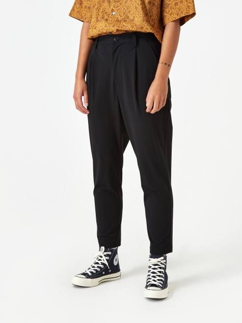 Carvico Pleat Trouser - Black