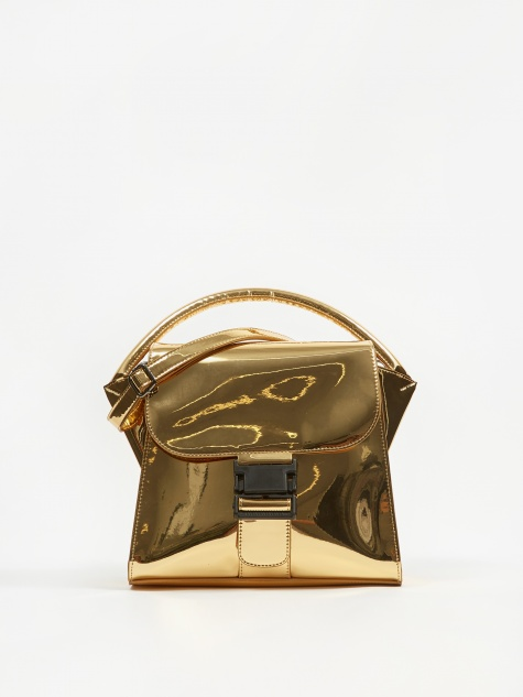 Buckled Bag Mirror - Gold
