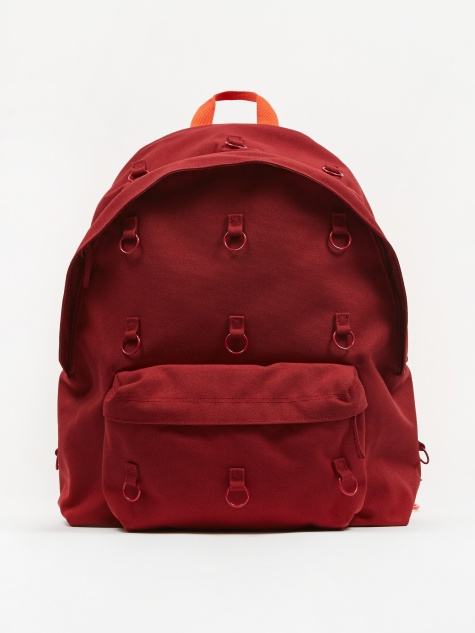 x Raf Simons Padded Loop Backpack - Burgundy/Orange