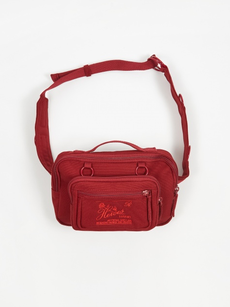 x Raf Simons Padded Loop Waistbag - Burgundy