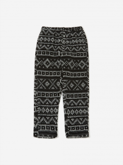 Fair Isle Jog Pant - Black/Grey