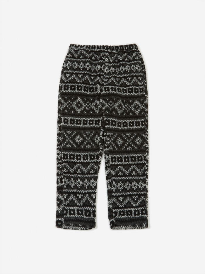 Engineered Garments Fair Isle Jog Pant - Black/Grey (Image 1)