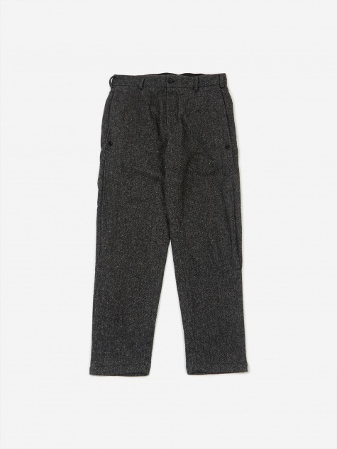 Doug Wool Pant - Grey Herringbone
