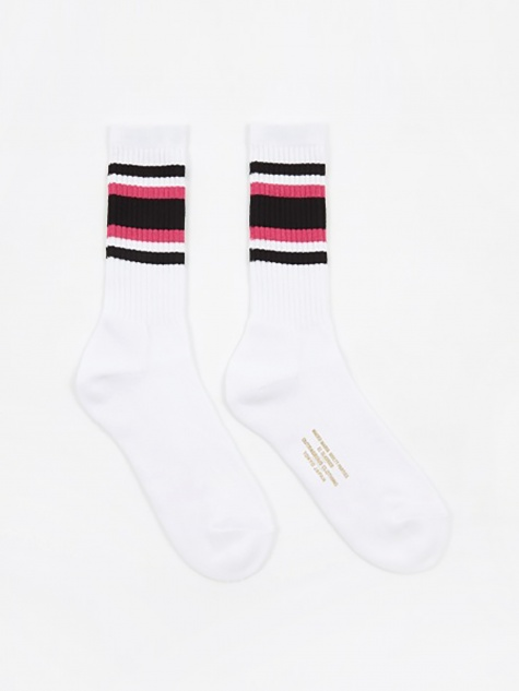 Sports Socks - White/Pink