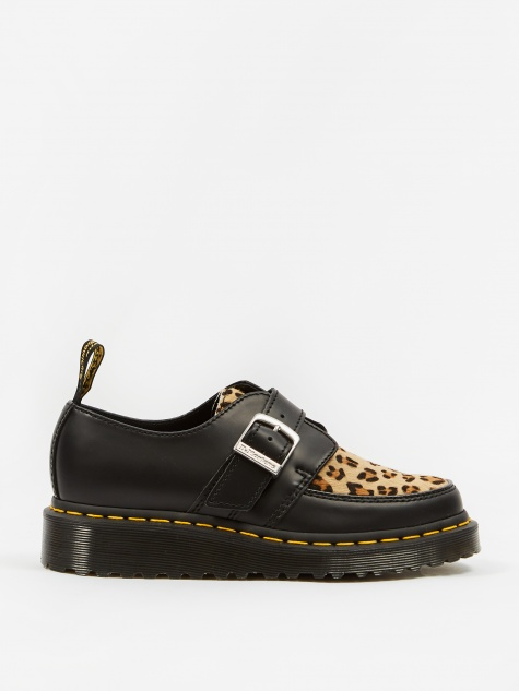Dr. Martens Ramsey Monk - Black Polished Smooth/Leopard