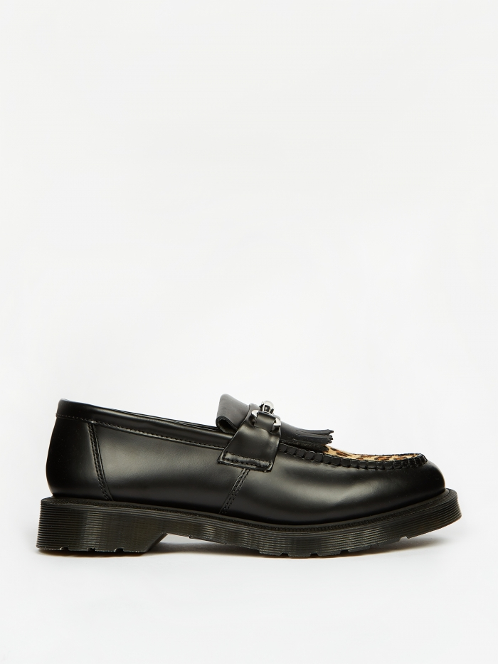 Dr. Martens Adrian Snaffle - Black Polished Smooth/Leopard (Image 1)