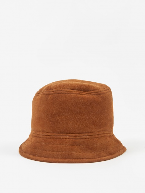 Shearling Bucket Hat - Cumin