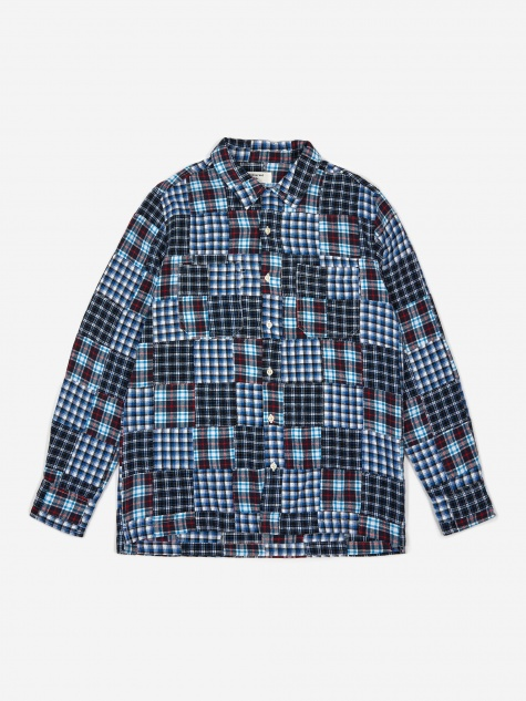 Garage Shirt II - Brushed Patchwork Blue