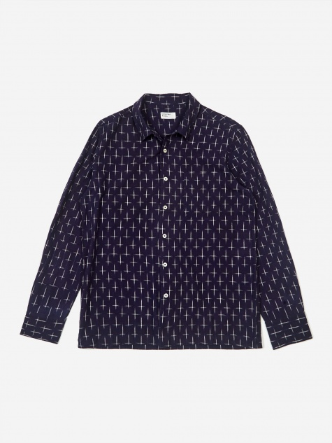 Garage Shirt - Ikat Cross Indigo