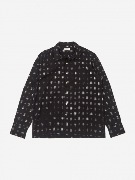 Garage Shirt - Ikat Hash Black